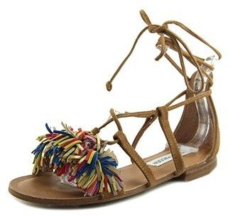 Steve Madden Swizzle Women Open Toe Synthetic Brown Gladiator Sandal.