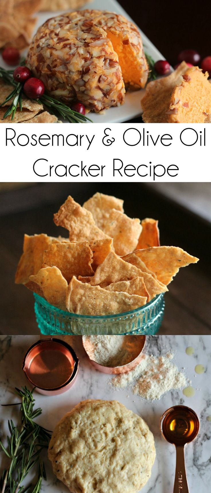 Rosemary and Olive Oil Cracker Recipe | Homemade Crackers | Cheese and Crackers | #InspireWithCheese AD