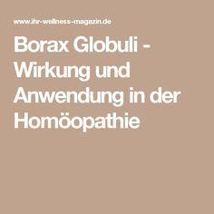Borax Globuli - Wirkung und Anwendung in der Homöopathie