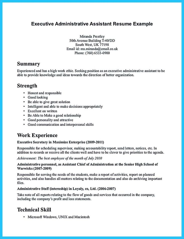 nice sample to make administrative assistant resume - Administrative Assistant Resume Objectives