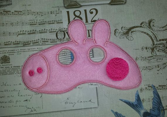 cute Peppa pig inspired mask ITH Project In the by SewBabyBows