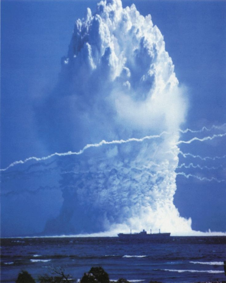Deep water nuclear explosion test by US military, 1958