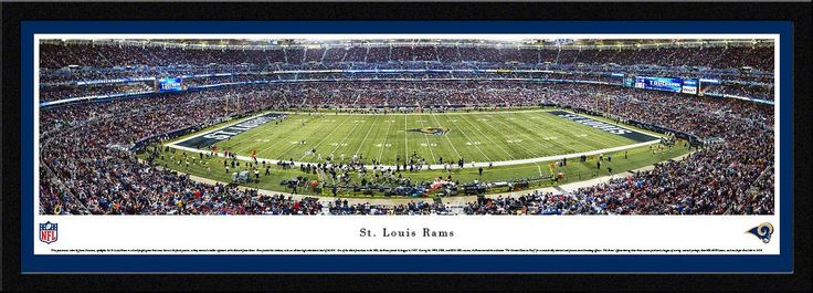St. Louis Rams Edward Jones Dome 50 Yard Line Panoramic Picture