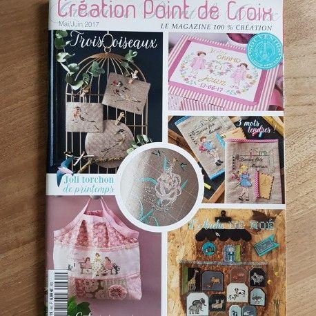 Mooi tijdschrift van Création Point de Croix (mei/Juni 2017) www.jackysborduurwerk.nl