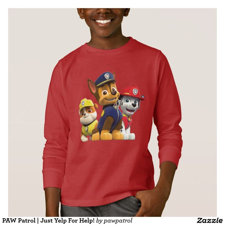 PAW Patrol | Just Yelp For Help! Puppy, dog lover. Producto disponible en tienda Zazzle. Vestuario, moda. Product available in Zazzle store. Fashion wardrobe. Regalos, Gifts. #camiseta #tshirt