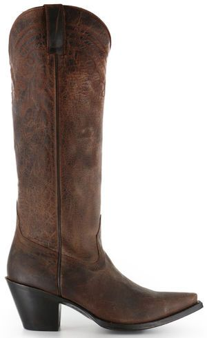 """Shyanne Women's 15"""" Brown Cowgirl Boots - Snip Toe - Country Outfitter"""
