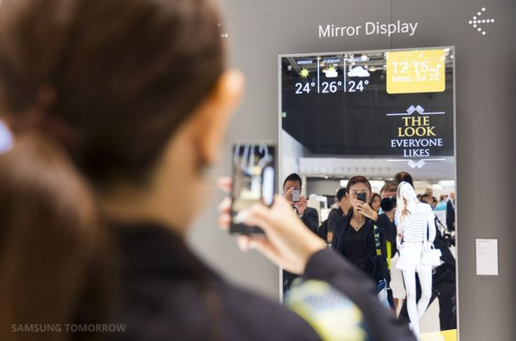 Samsung Shows Off Transparent And Mirrored OLED Displays At IFA 2015 | Commercial Integrator Europe
