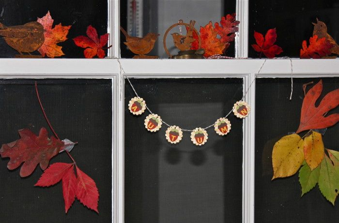 Probably the best of all Fall decorations, leaves, and they are free!