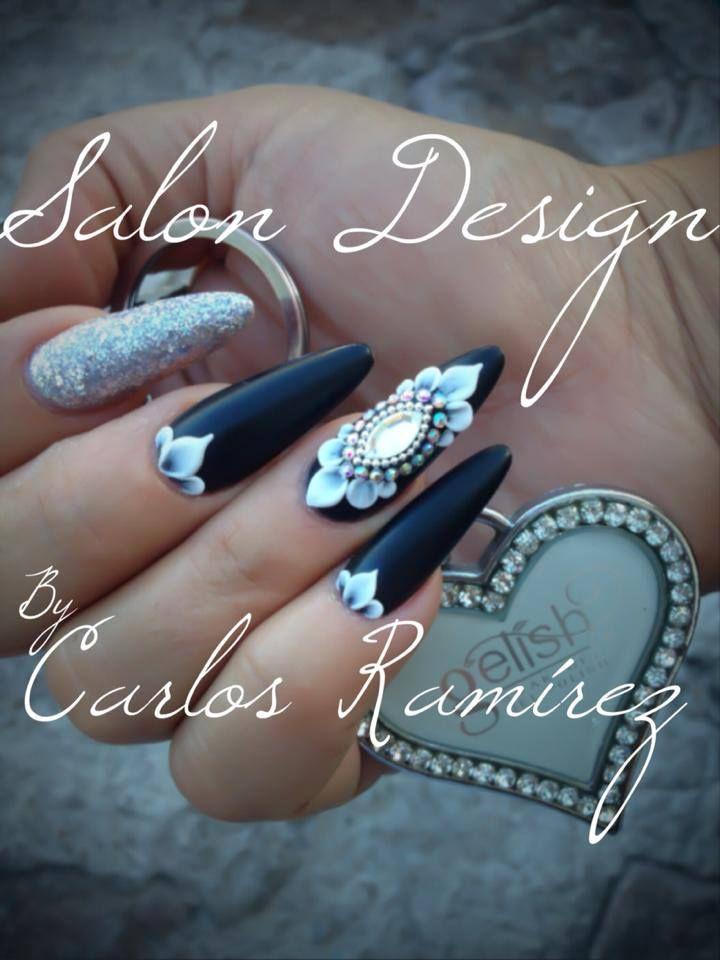 Diseño en 3D hecho por Carlos Ramirez #Gelish #harmony #diseño #nails #art #love #beauty #design