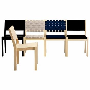 The innovative webbed design of this chair mimics the spirit of Aalto's modern architecture. Artek 611 Dining Chairs - Your Own Materials