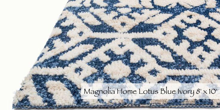 Magnolia Home Lotus Blue Ivory 8' x 10'  Homemakers Furniture