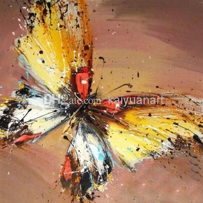 10% Discount Hand Painted Top Grade Abstract Animal Oil Painting On Canvas Beautiful Butterfly Art For Home Decoration Or Gifts 1panel From Kaiyuanart, $4.03   Dhgate.Com