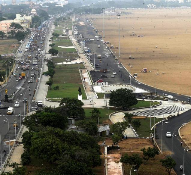 Marina Beach, Chennai, India - The Longest beach in India
