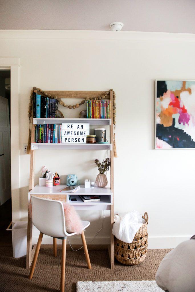 One Room Challenge Tween Queen Bedroom & Bath {THE REVEAL!!} - Suburban Bees