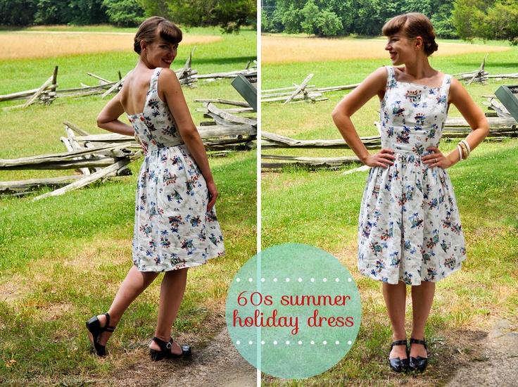 sewing: 60s summer holiday dress | via Elegant Musings.