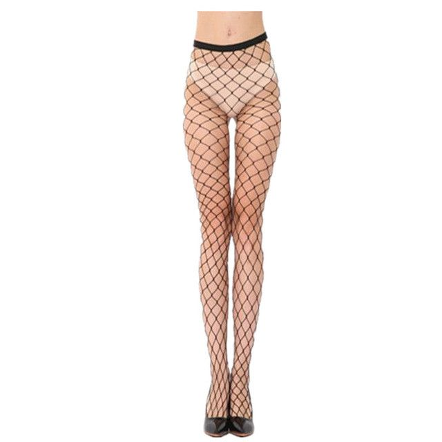 2017 Women Sexy Fishnet Stockings Net See Through Pantyhose Ladies Mesh Lingerie For Female High Silk Stocking Over The Knee 320