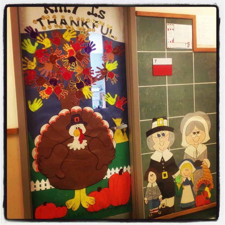 November Classroom Decoration Ideas ~ My thanksgiving door classroom doors pinterest best