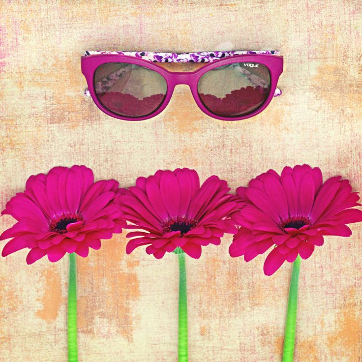 Bright Pink & Gerbera Daisies   From our latest collection Flora VO2795S   #NowinVogue @ http://vogu.ee/PUKIvQ