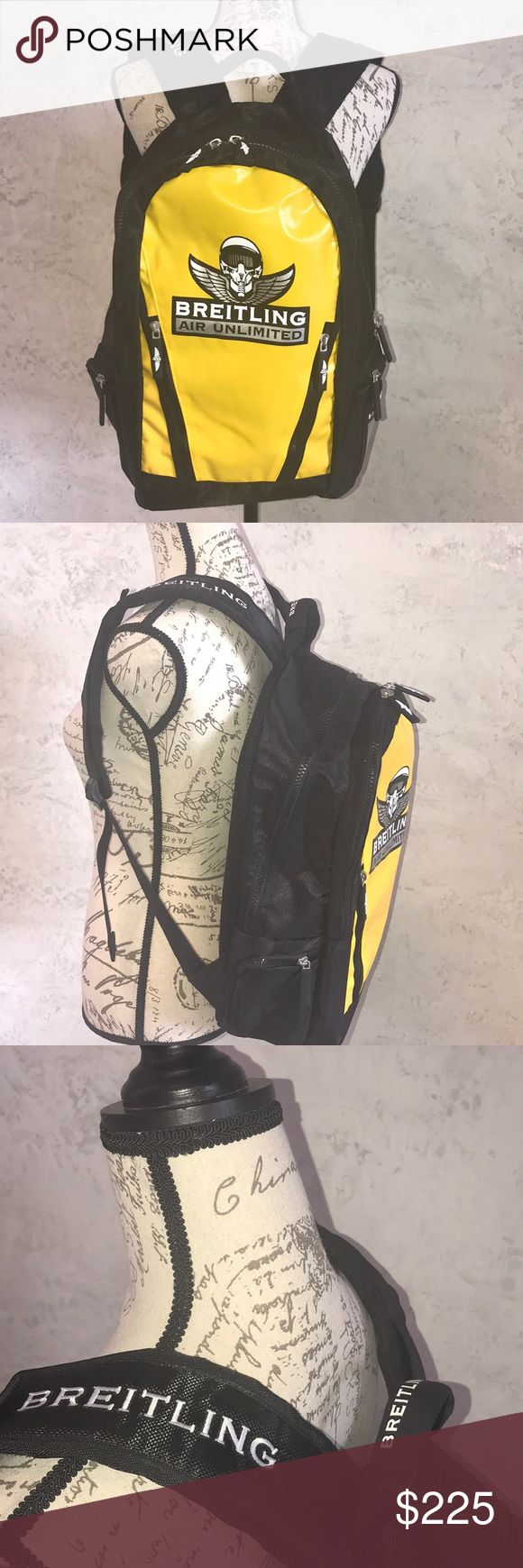 Breitling Backpack Breitling Air Unlimited Yellow/Black Backpack. Brand new. Never used. Breitling Bags Backpacks