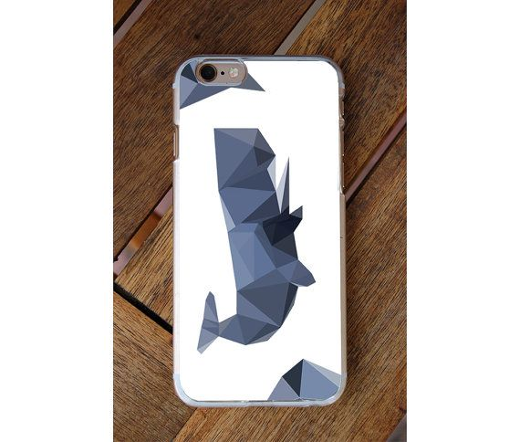 Polygon Blue Whale Phone Case iPhone 6 iphone 6S by GreenyView