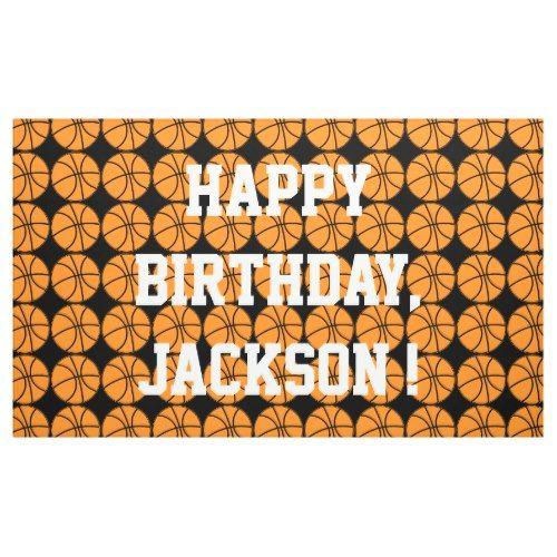 Happy Birthday BasketBall Player Sport Athlete Banner