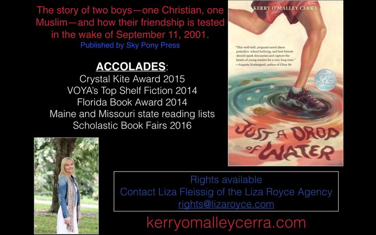 Just a Drop of Water: Middle grade book information
