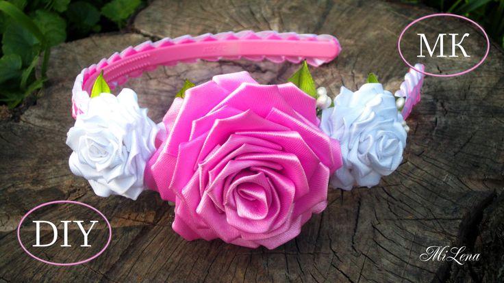 Ободок с Розами, МК / DIY Roses Headband / DIY Floral headband