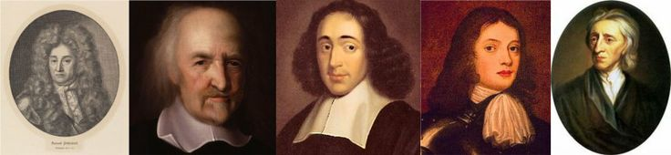 Samuel von Pufendorf – Thomas Hobbes – Baruch de Spinoza – William Penn – John Locke