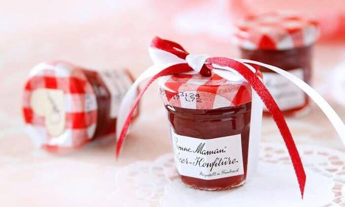 Gastgeschenk zur Hochzeit: Marmelade
