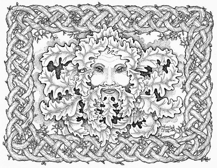 Mandala Zu Weihnachten Ausmalbilder Abstraktes Gesicht