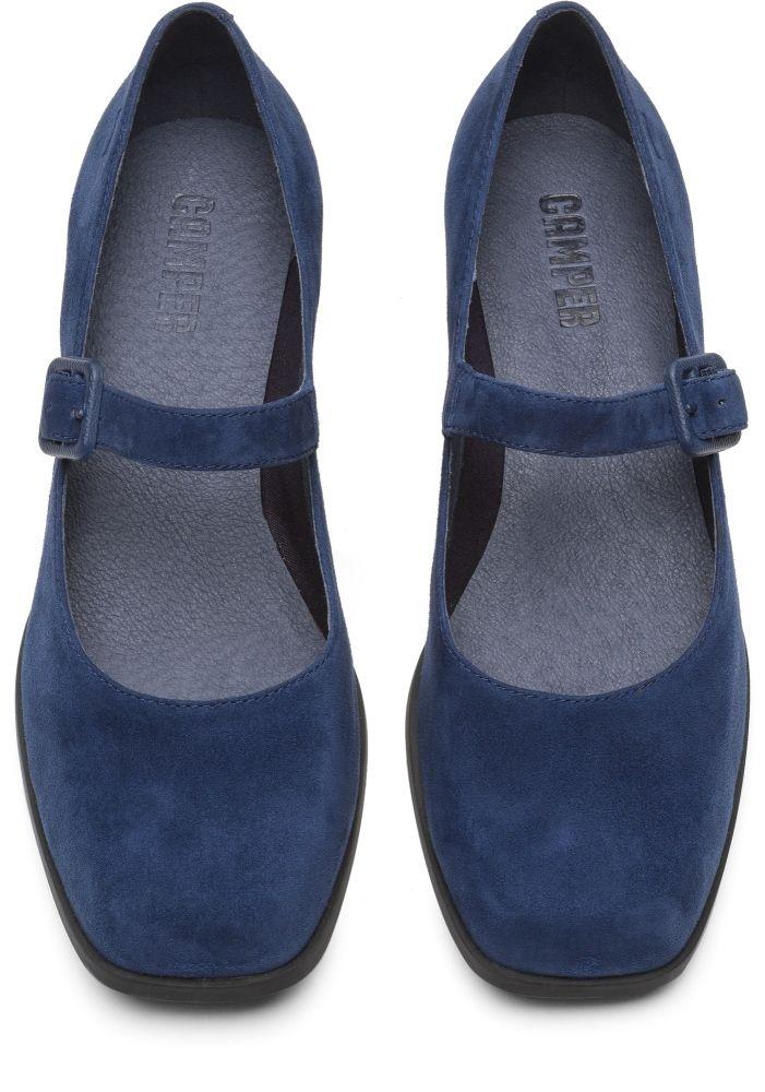 Azul De Kobo Tacón K200218 Camper Zapatos 004En Mujer VzpGMqSU