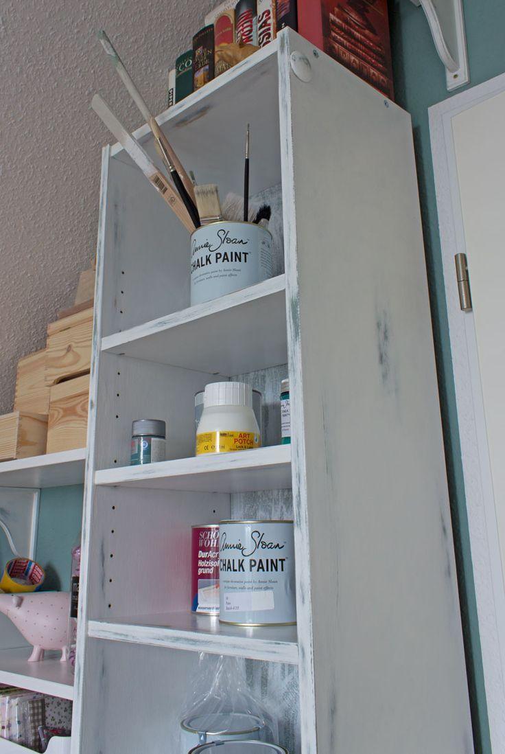 Da Ich Oft Von Euch Gefragt Wurde Ob Man Auch Ikea Mobel In Shabby Shic Oder Vintage Optik Aufarbeiten Kan Ikea Mobel Schabby Schick Furnierte Mobel Streichen