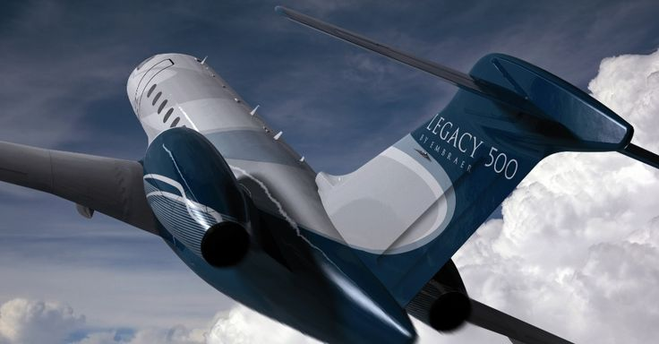 O Legacy 500, novo jato executivo da Embraer, acomoda 12 passageiros em uma cabine de 1,82 metro de altura