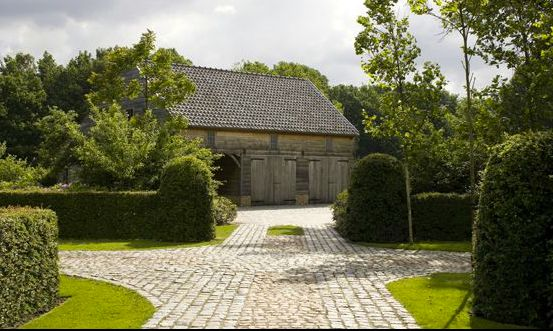 beautiful driveways and landscapes | came across this driveway yesterday by Belgium landscape architect ...
