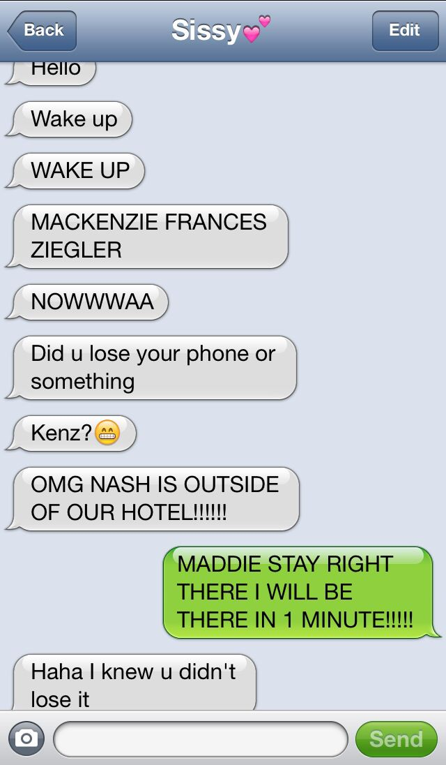 Haha mackenzie and maddies text from a long time agoTHIS IS REAL IT WAS JUST RELEASED ONLINE