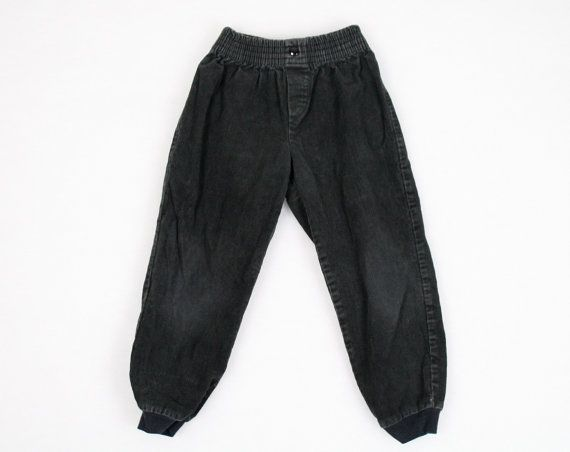 Vintage Childrens Pants 1980s 80s Pants Black Corduroy Pants Childrens 5 Size 5 Slouchy Harem Pants New Wave Pants Boys Girls Hipster Pants #vintage #etsy #80s #1980s #5 #size5 #childrens #toddler #newwave #corduroy #pants