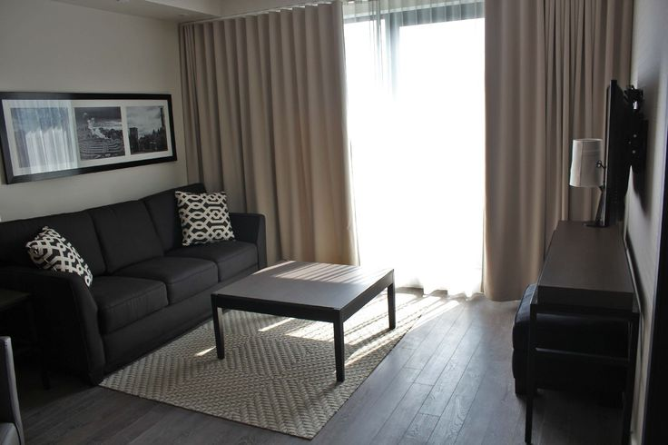 These sleek and well-appointed reverie suites in Gatineau are perfect for any length of stay. #Gatineau #CorporateHousing #Accommodation #LuxuryApartment