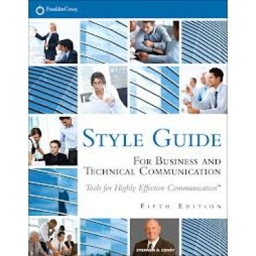Style guides for technical writing