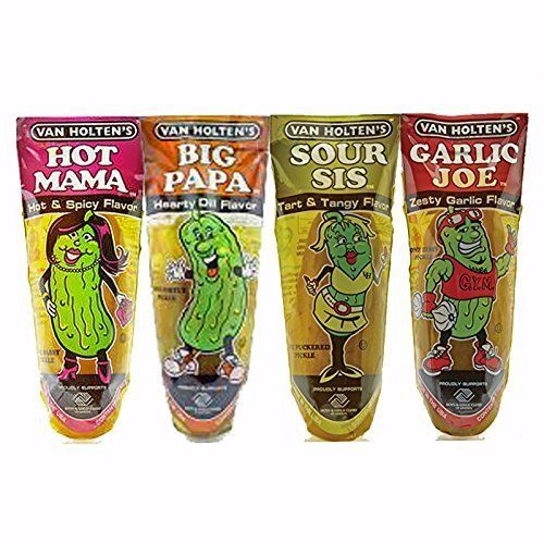 Van Holtens Character Pickle Sampler Case Dill Hot Sour Garlic 4 Flavor 12 pack in a Pouch Variety Bundle Including Big Papa Hot Mama Sour Sis Garlic Joe -  http://www.trendingviralhub.com/van-holtens-character-pickle-sampler-case-dill-hot-sour-garlic-4-flavor-12-pack-in-a-pouch-variety-bundle-including-big-papa-hot-mama-sour-sis-garlic-joe/ -  - Trending + Viral Hub