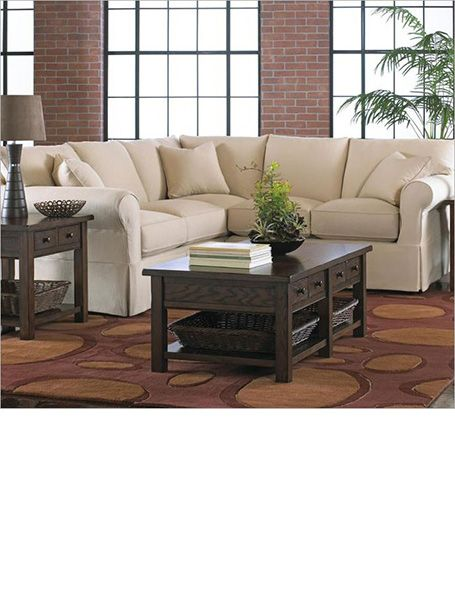 Reclining sectional sofa for small spaces