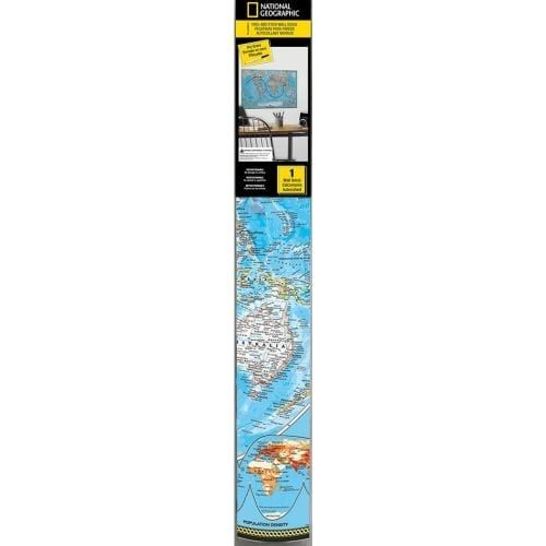 York Wallcoverings RMK2362SLM World Map Dry Erase Peel and Stick Giant Wall Decals