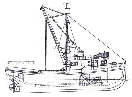 Purse Seiner model ship plan | Woodworking | Model ships ...