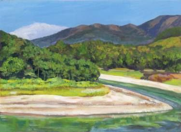 "Saatchi Art Artist Sonal Panse; Painting, ""Green River"" #art"