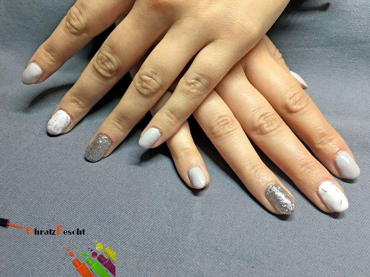 Marmor Effekt mit Grau und Silberglitzer 💎