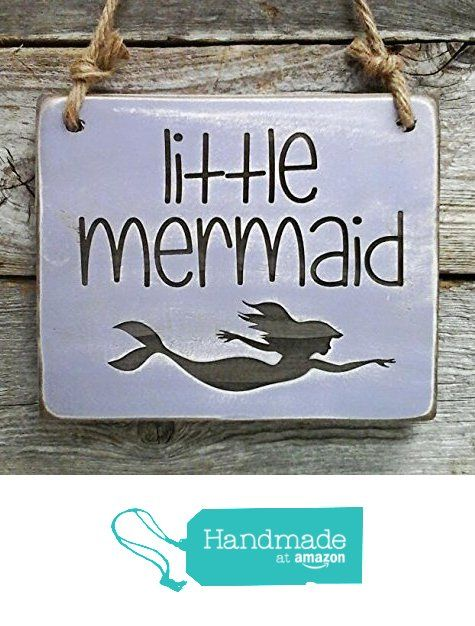 Little Mermaid Small Hanging Sign - Girl's Room Decor from Edison Wood http://www.amazon.com/dp/B01CKQYR0U/ref=hnd_sw_r_pi_dp_T3e4wb025BCGX #handmadeatamazon