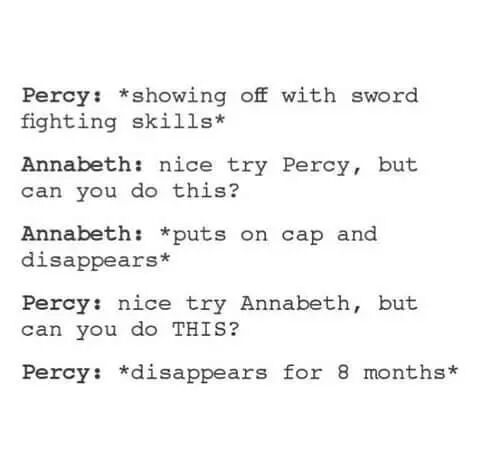 Percy you savage....was it too soon