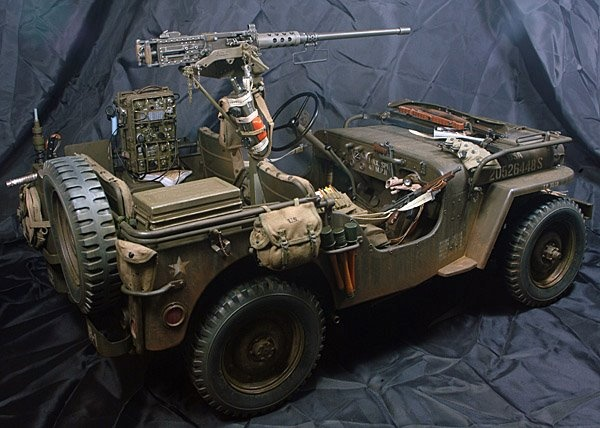 Insane Willys Jeep in1/6th scale by Serang Kim The Sixth
