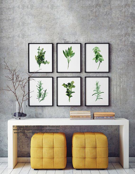 Herbs Chart Set of 6 Art Print Botanical от ColorWatercolor