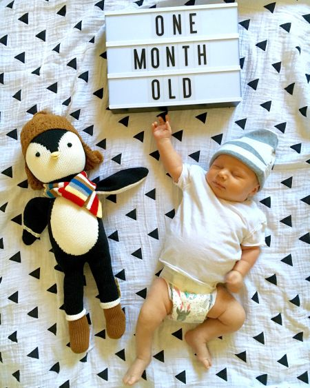 Monthly Baby Photos. 1 month old!