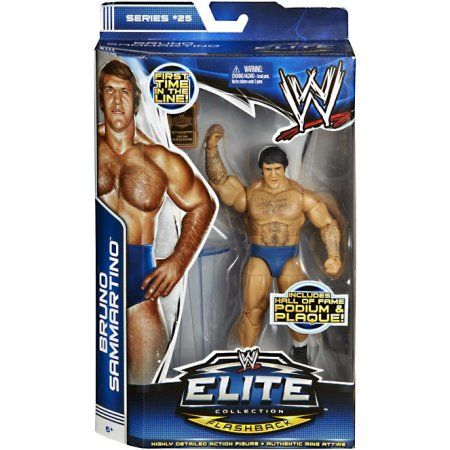 Bruno Sammartino Elite Series 25 WWE Wrestling Action Figure On Sale, Multicolor